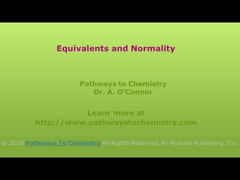 Equivalents of Acid or Base and Normality