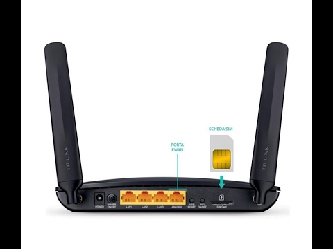 How to configure TP Link Wireless N 4G LTE Router with SIM Card #02