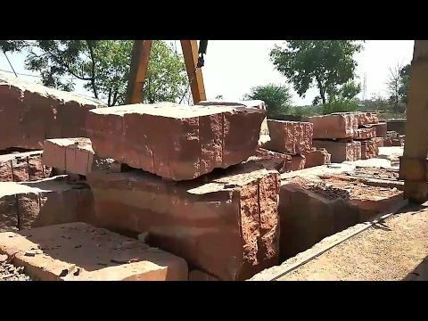 Marble Red stone cutting Rajasthan लाल संगमरमर