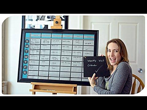 Weekly Wall Calendar