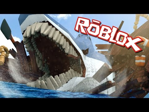 Roblox | WORLDS LARGEST SHARK ATTACKS! Jaws Shark Survival! (Roblox Adventuers)