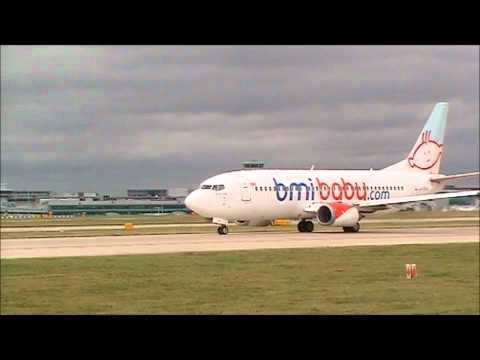 BMI baby 737 departing Manchester Airport