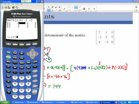 Finding the Determinant of a Matrix on the Calculator