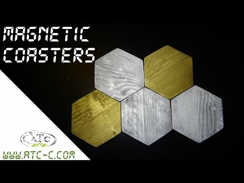 How to make magnetic coasters from pallet wood - DIY