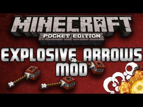 EXPLOSIVE ARROWS MOD (TNT Arrows) - Minecraft Pocket Edition