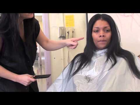 How to cut hair extensions: layer haircut