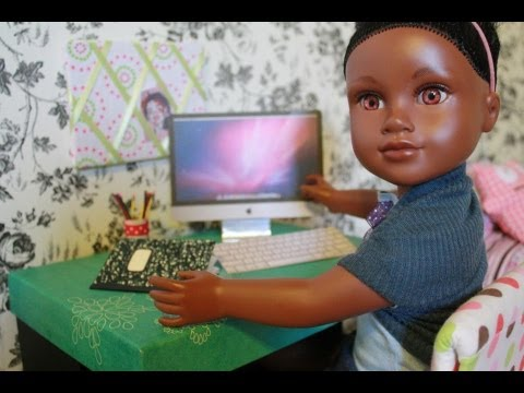 How to Make a Doll Desktop Computer : Easy - Doll Crafts