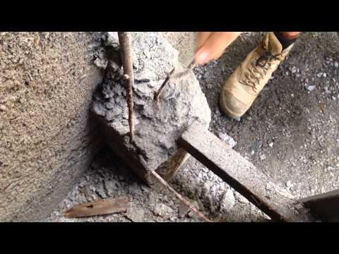 Repairing concrete post , video 1 of 3