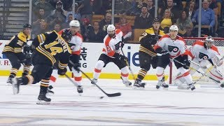 Bruins' Postma ties game against Flyers with blast from point