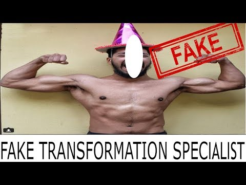 FAKE BODY TRANSFORMATION BY ROHIT KHATRI | INDIA`S MOST SUBSCRIBED FITNESS CHANNEL