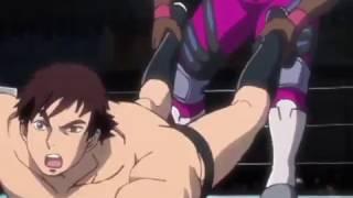 tiger mask w =gut trample, back breaker, wrestling=