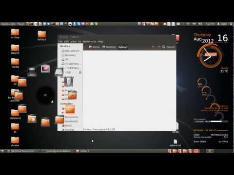 add bookmark folders in ubuntu 12.04