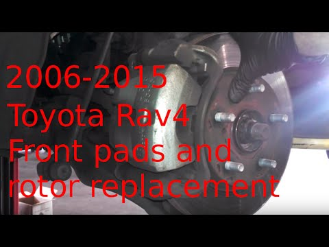 Front brake pad replacement 2011 Toyota RAV4 2006-2015 How to install pads