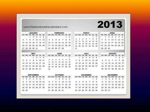 Free Homemade Calendar 2013 printable templates