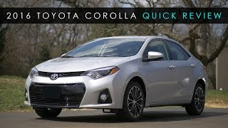 Quick Review | 2016 Toyota Corolla | The Appliance