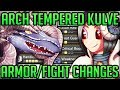 ARCH TEMPERED KULVE TAROTH - Fury Mode/Fight Changes + Wep/Armor Review - Monster Hunter World! #mhw