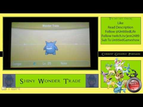 GENGAR  ★ shiny wonder trade pokemon x and y