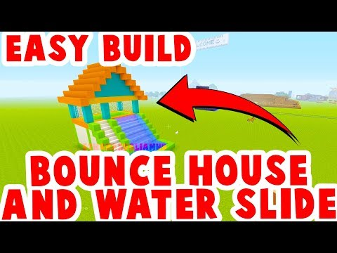 How To Make A Bouncy House + Water Slide : Minecraft Tutorial