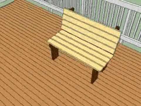 Free deck bench plans