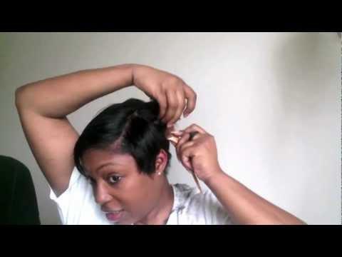 Short Hair Cutting Tutorial: How I cut my short black hair!!!