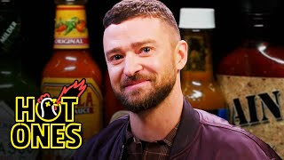 Justin Timberlake Cries a River While Eating Spicy Wings | Hot Ones