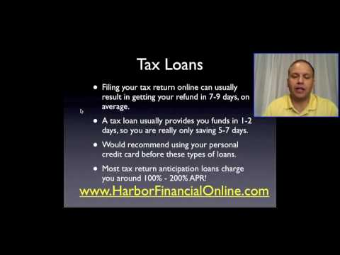 Income Tax Refund Advance Loans 2011, 2012