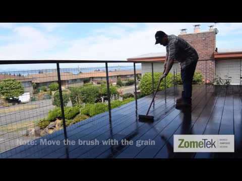 ZomeTek Video Series   How to Clean Bamboo Composite Decking