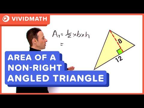 Area Of A Right Angled Triangle - VividMaths.com