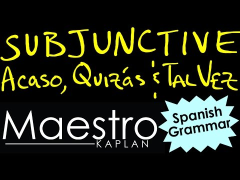 Using the PRESENT SUBJUNCTIVE with ACASO, QUIZAS, TAL VEZ