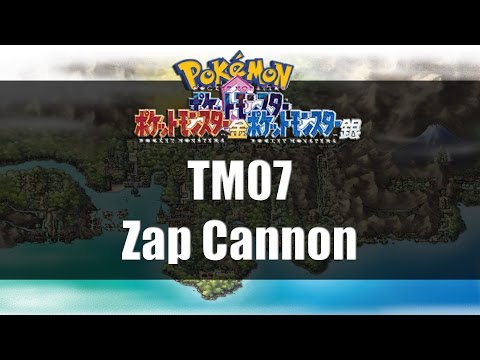 Pokemon Gold Silver & Crystal | Where to get TM07 Zap Cannon