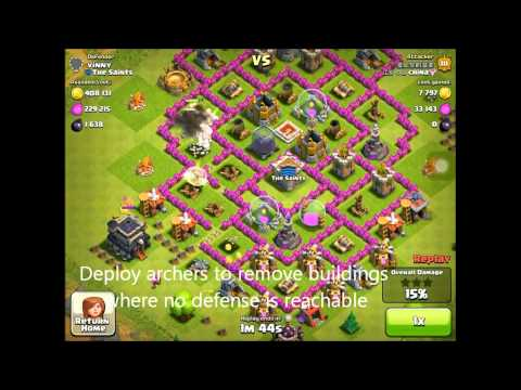 Clash of Clans Attacking and Farming Strategy - deploy steps explained-professional steal team 2