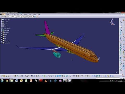 CATIA V5 Aircraft Surfaces Design - Part 1 : Fuselage Design
