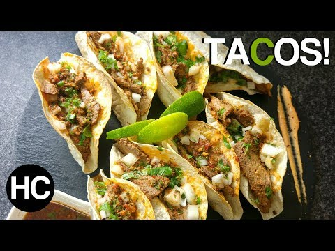 MEXICAN STYLE STEAK TACOS RECIPE - THIS WILL MAKE YOU HUNGRY! - Halal Chef