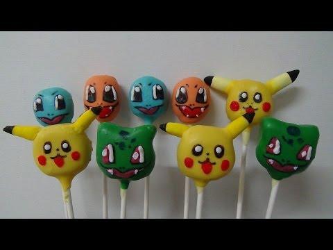pokemon characters cake pops