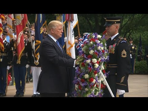 President Donald Trump participates in Memorial Day Wreath-laying Ceremony | ABC News