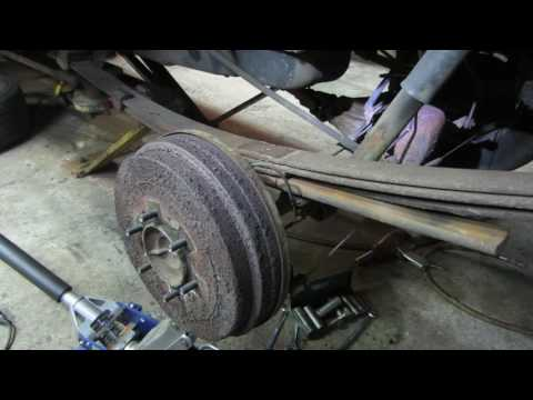replacing  a single broken leaf spring on the car/truck