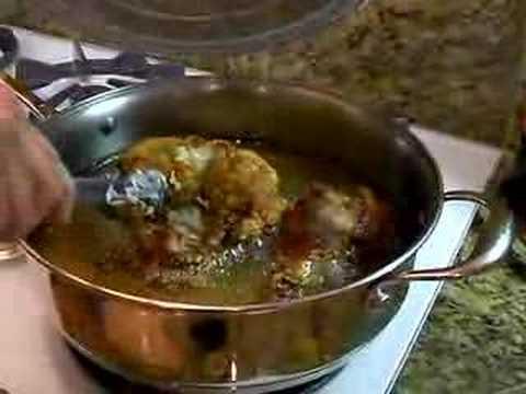 Sam cooks chicken