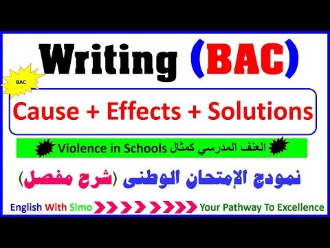 Writing A Paragraph About: Causes, Effects and Solutions (violence in schools)  English With Simo
