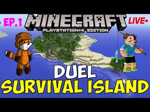 Minecraft PS4: DUEL SURVIVAL ISLAND [1] Welcome!