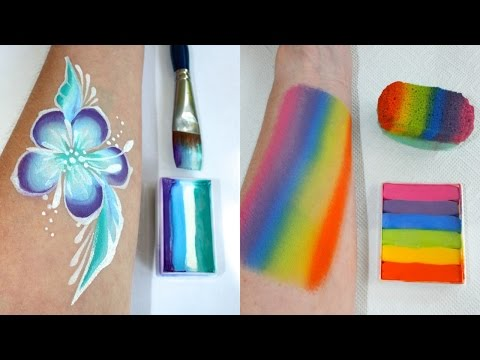 Learn to make your own One Stroke & split cakes - Face Painting Made Easy PART 5