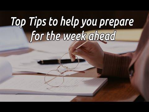 Set up Sunday - Time Management Tips
