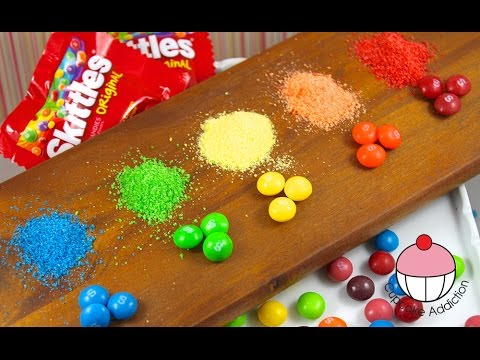 DIY SKITTLES Sprinkles - How To Make your own sprinkles using SKITTLES!