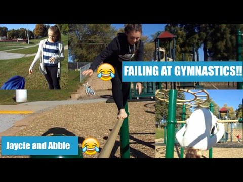 FAILING AT GYMNASTICS AT THE PARK!! |JAYCIE AND ABBIE|