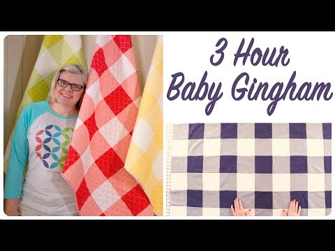 3 Hour Baby Gingham - Easy Baby Quilt - FREE PATTERN