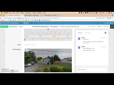 Automatically Create Google Street Map Inside Your Podio Property App || Quick And Easy