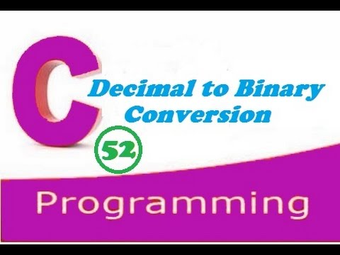 C programming video tutorial - decimal to binary conversion