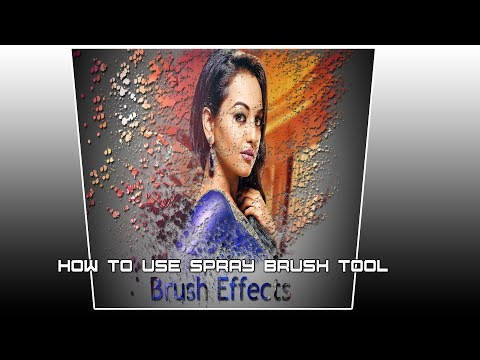 How to use spray paint brush Tool for manipulation in Photoshop