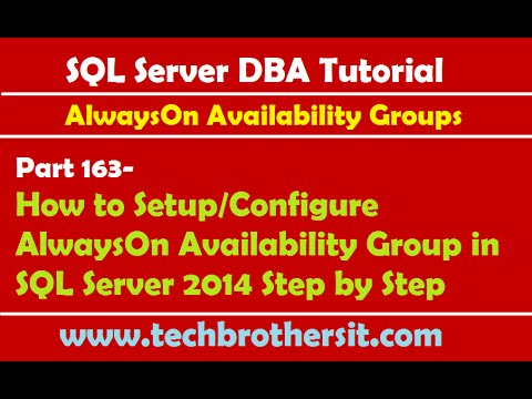 DBA Tutorial 163-How to Setup/Configure AlwaysOn Availability Group in SQL Server 2014 Step by Step