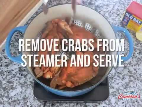 How to resteam/reheat Maryland Blue Crabs. Wait for it...