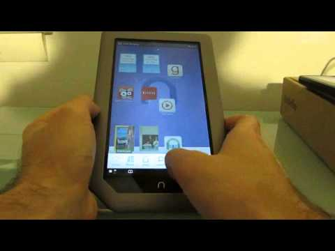 NOOK Tablet running Kindle, Amazon Appstore, and Go Launcher EX